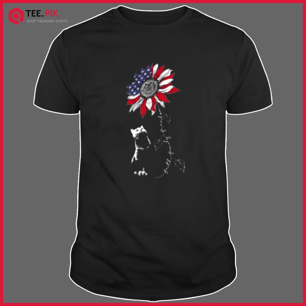 Sunflower 4th of July Patriotic Faith Family Freedom Shirt