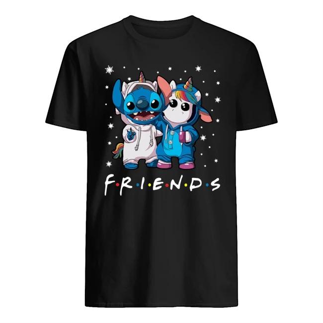 Friends Tv Show Baby Stitch and Unicorn shirt