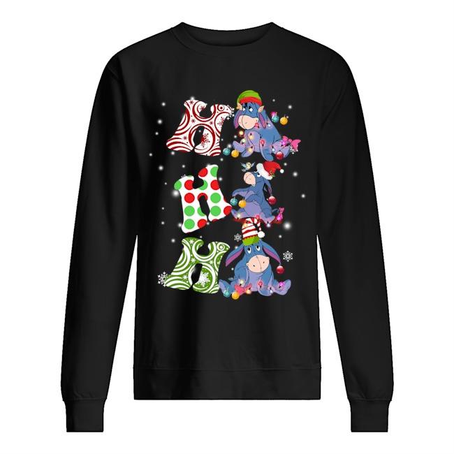 Ho Ho Ho Santa Eeyore Christmas Sweater