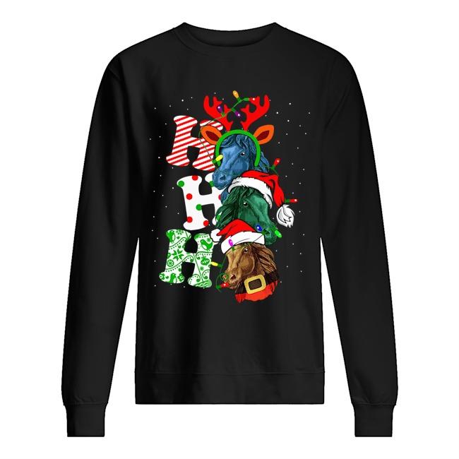Ho Ho Ho Santa Horse Christmas Sweater