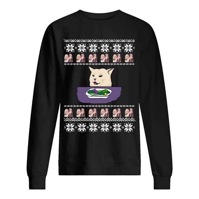 Official Woman Yelling Cat Meme Ugly Christmas Sweater