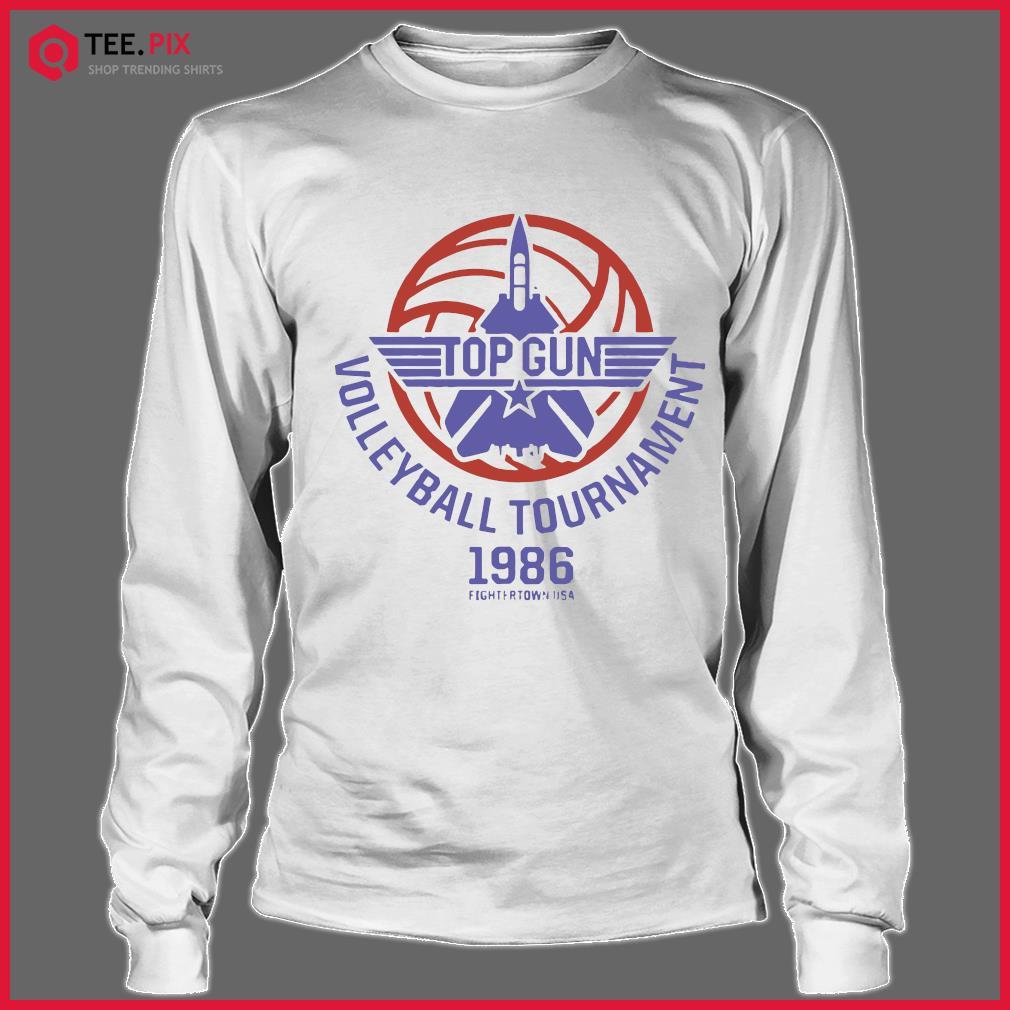 Top Gun Volleyball Tournament 1986 Fightertown Usa Shirt Longsleeve tee