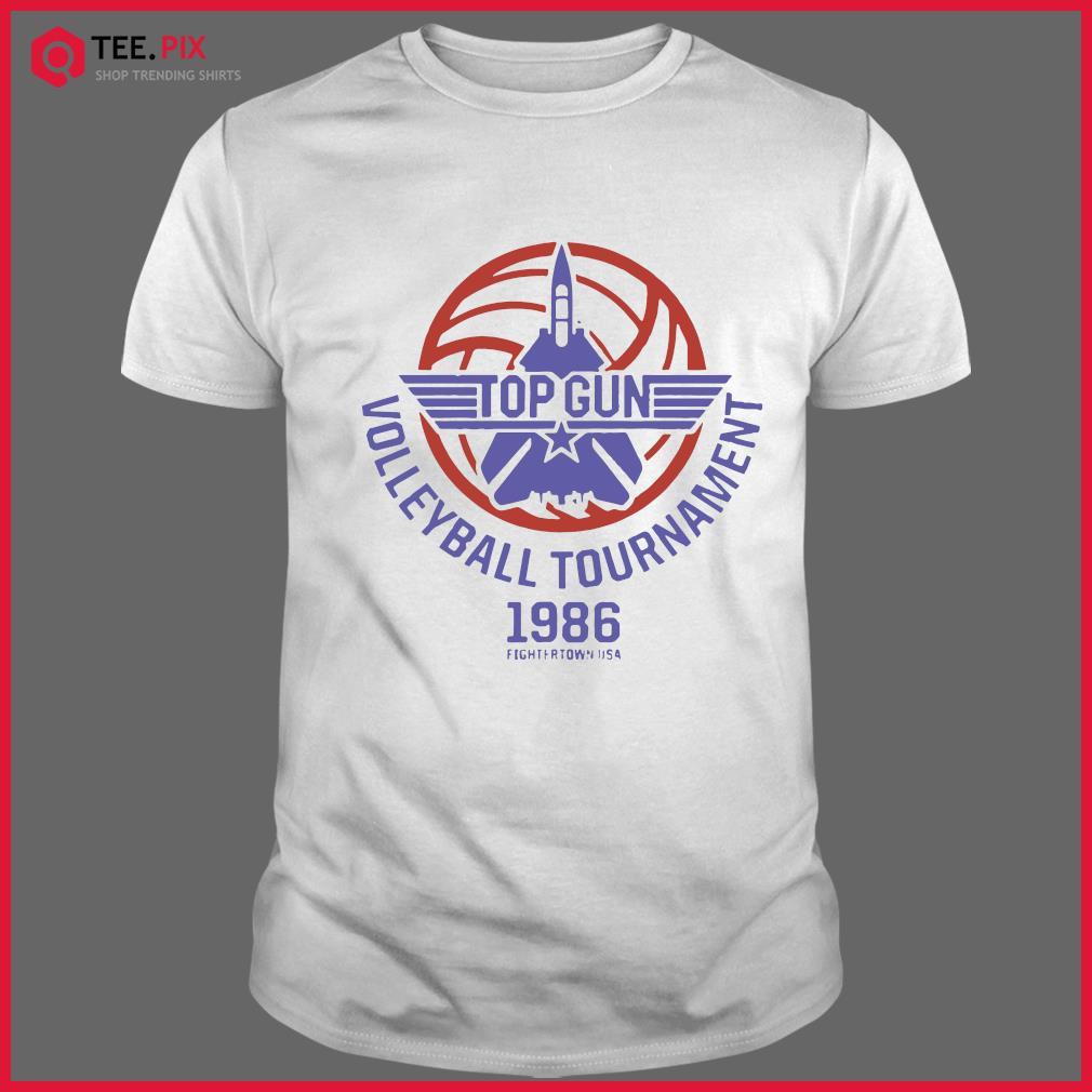 Top Gun Volleyball Tournament 1986 Fightertown Usa Shirt