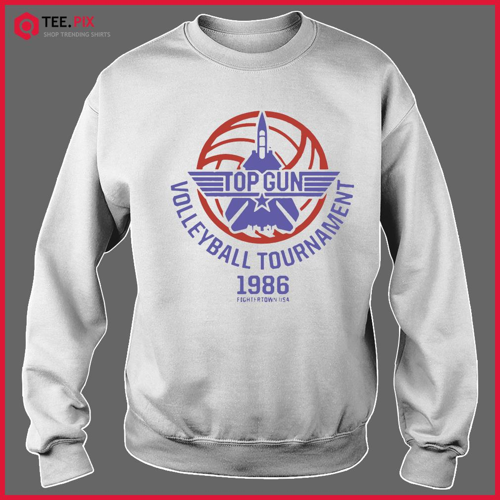 Top Gun Volleyball Tournament 1986 Fightertown Usa Shirt Sweater