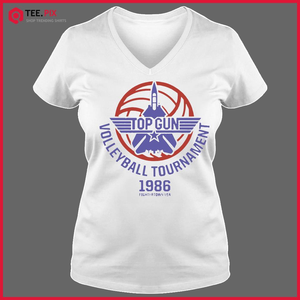 Top Gun Volleyball Tournament 1986 Fightertown Usa Shirt V-neck Tee